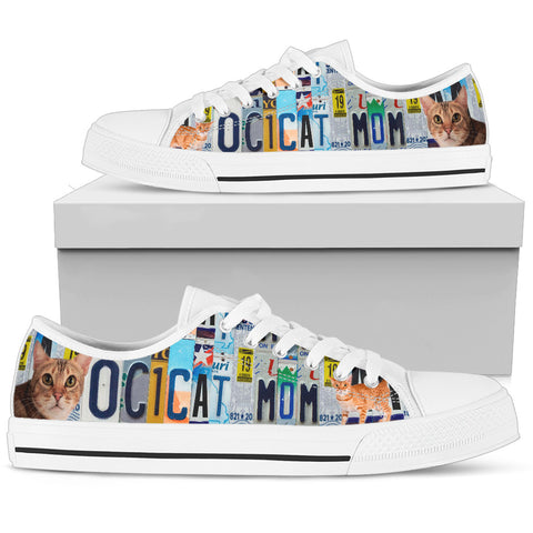 Ocicat Print Low Top Canvas Shoes For Women