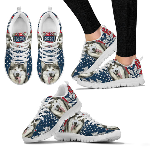 Alaskan Malamute Christmas Running Shoes For Women