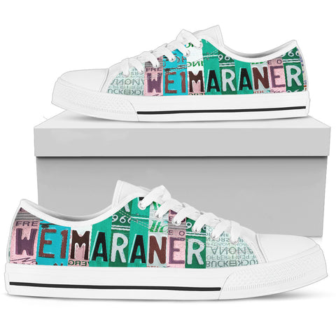 Weimaraner Mom Print Low Top Canvas Shoes For Women- Limited Edition