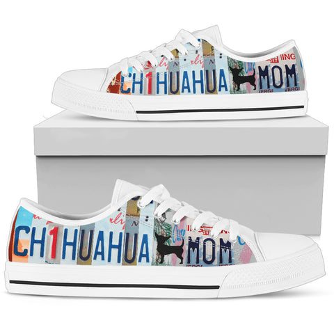 Chihuahua Print Low Top Canvas Shoes for Women