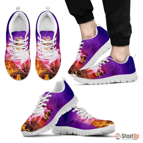 'Hero Cat' Running Shoes For Men3D Print