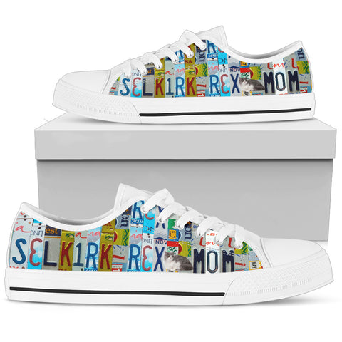Selkirk Rex Cat Print Low Top Canvas Shoes For Women