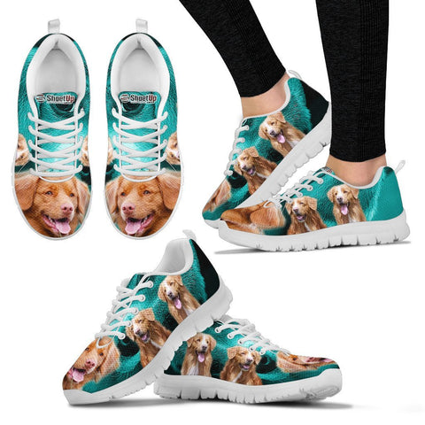Nova Scotia Duck Tolling Retriever On Deep Skyblue Print Running Shoes For Women