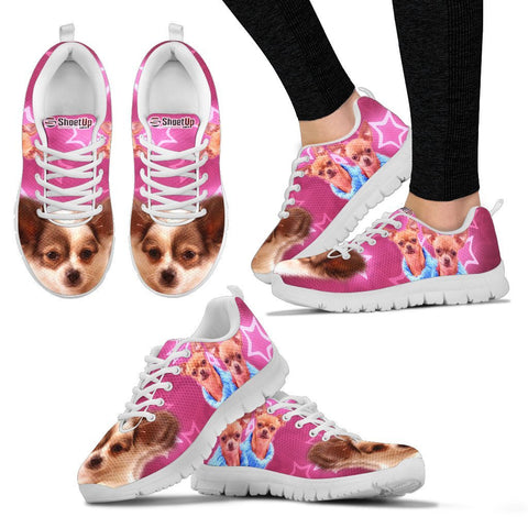Chihuahua On Pink Print Running Shoes For Women