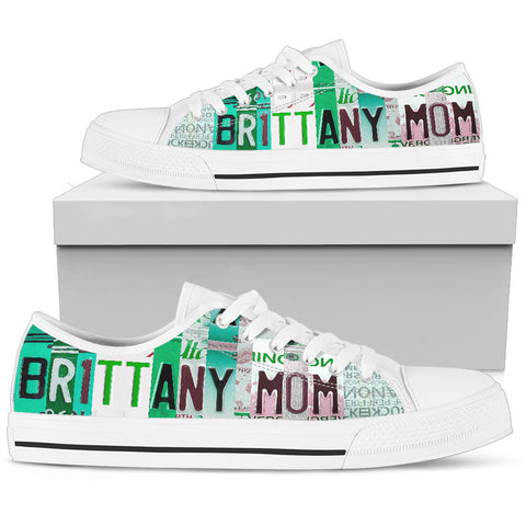 Brittany Mom Print Low Top Canvas Shoes For Women- Limited Edition