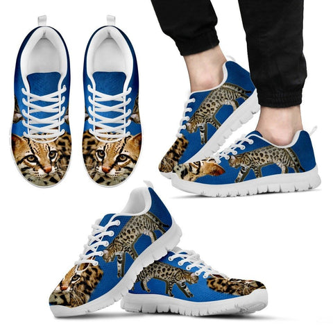 Cheetoh Cat Print (White/Black) Running Shoes For Men