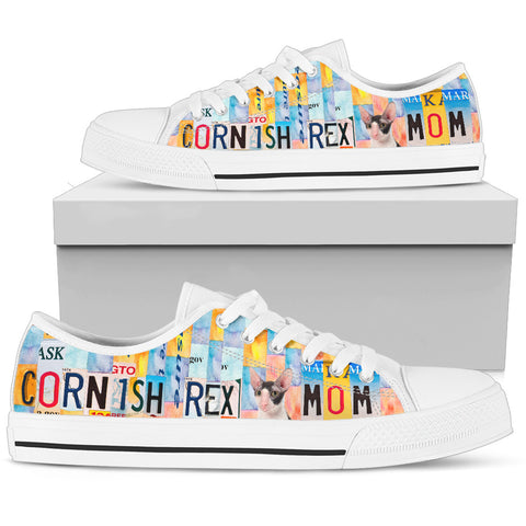 Women's Low Top Canvas Shoes For Cornish Rex Mom