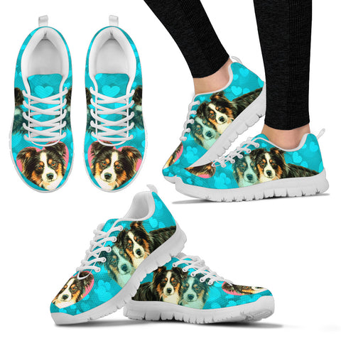 Valentine's Day SpecialAustralian Shepherd Dog Print Running Shoes For Women