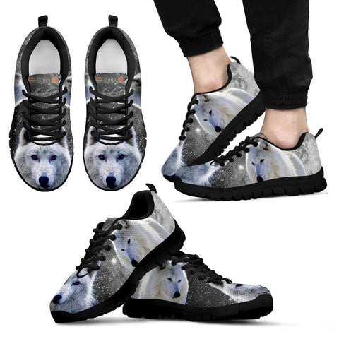 Dire wolf Print Sneakers Men (For Women, Select from DropDown)