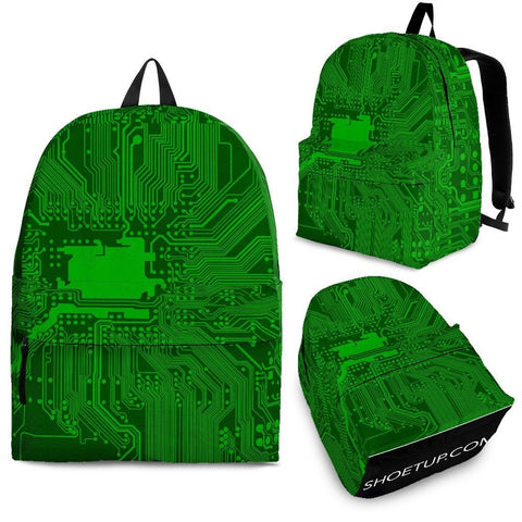 Circuit Board Pattern Backpack (Design 1) Free Express Shipping