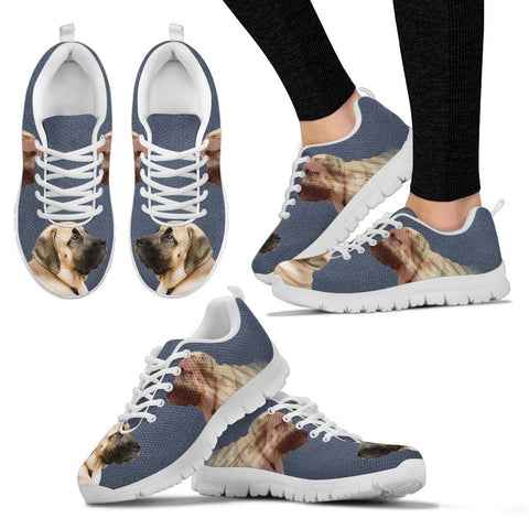 English Mastiff Print Running Shoes For Women
