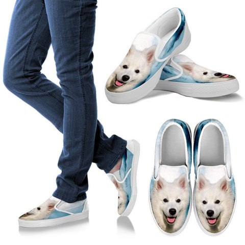 American Eskimo Print Slip Ons For Womens Express Shipping