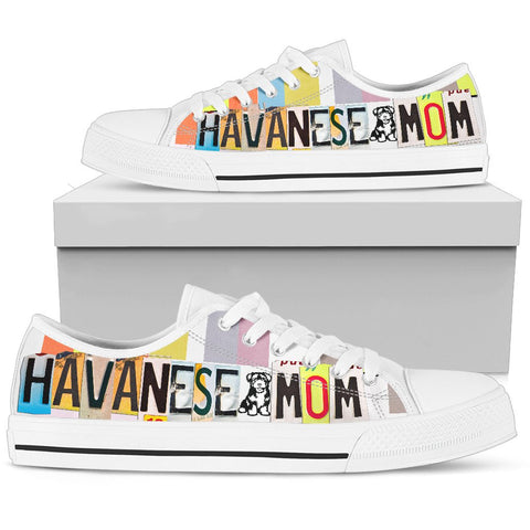 Havanese Mom Print Low Top Canvas Shoes for Women