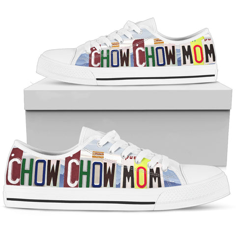 Cute Chow Chow Mom Print Low Top Canvas Shoes For Women