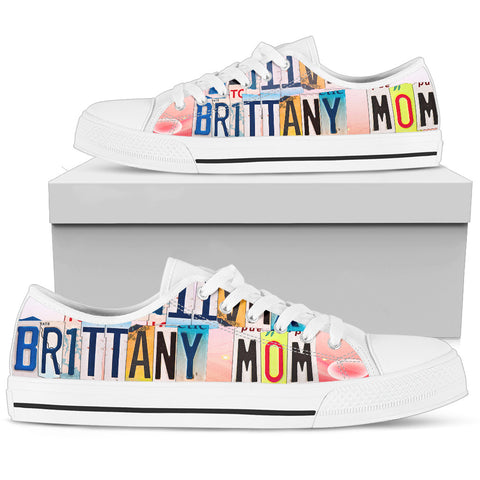 Lovely Brittany Mom Print Low Top Canvas Shoes For Women