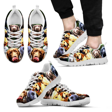 Multiple Labrador Retriever Print (Black/White) Running Shoes For MenLimited EditionExpress Shipping