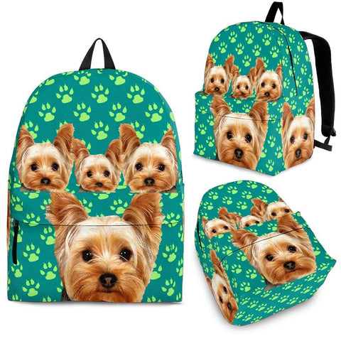 Yorkshire Terrier Print BackPack Express Shipping