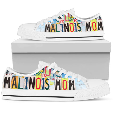 Cute Malinois Mom Low Top Canvas Shoes For Women