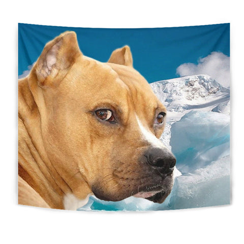 Cute American Staffordshire Terrier Print Tapestry