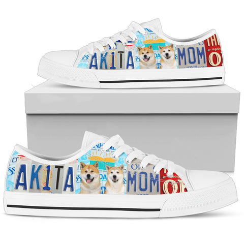 Akita Print Low Top Canvas Shoes for Women