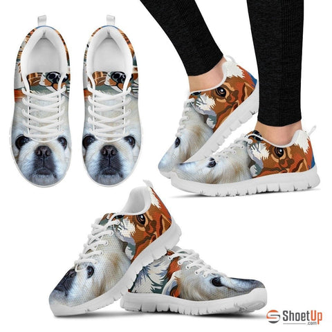 Pekingese Dog Print Running Shoe For Women