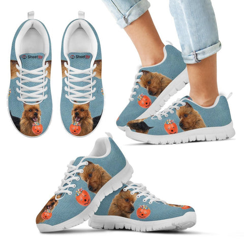 Australian Terrier Halloween Print Running Shoes For Kids