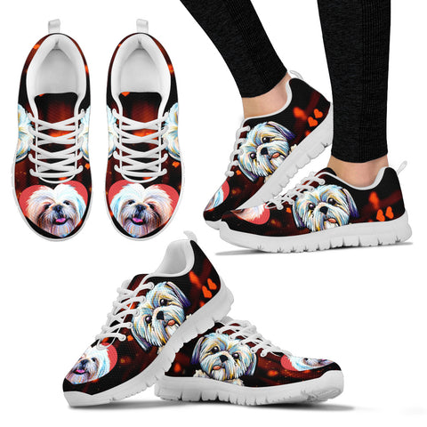 Valentine's Day SpecialCute Shih Tzu Dog Print Running Shoes For Women