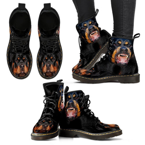 Rottweiler Print Boots For WomenExpress Shipping
