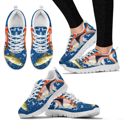 Seluang Fish (Rasbora) Print Christmas Running Shoes For Women