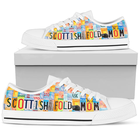 Women's Low Top Canvas Shoes For Scottish fold Mom