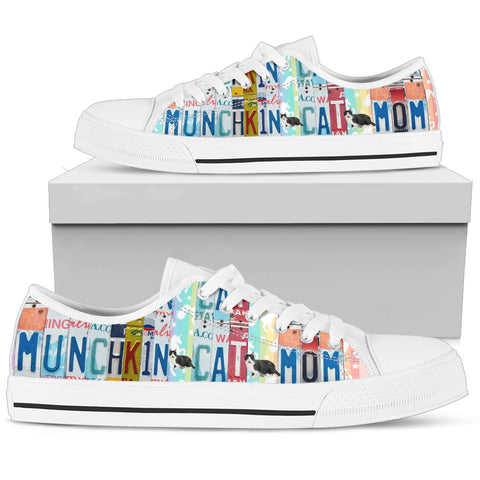 Munchkin Cat Print Low Top Canvas Shoes For Women