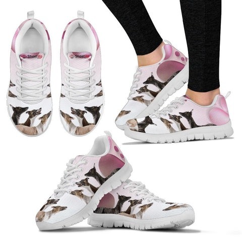 Whippet Pink White Print Running Shoes For Women