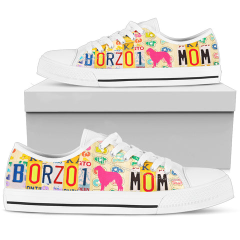 Borzoi Mom Print Low Top Canvas Shoes For Women