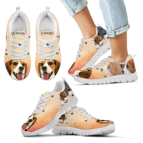 Cute Beagle Print Running Shoes For Kids