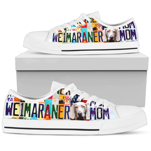 Women's Low Top Canvas Shoes For Weimaraner Mom