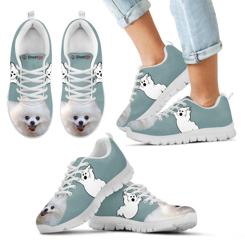 Pomeranian Halloween Print Running Shoes For Kids/Women