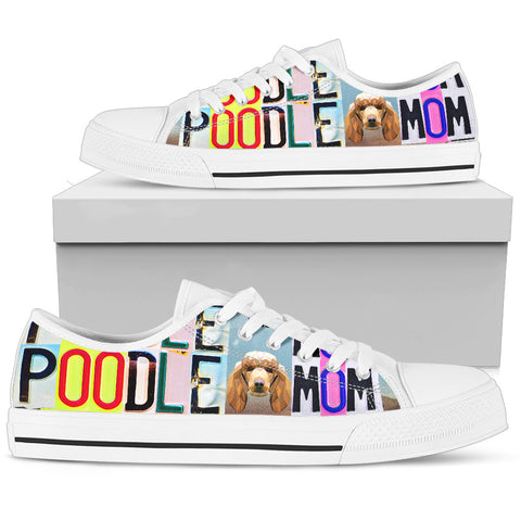 Women's Low Top Canvas Shoes For Poodle Mom