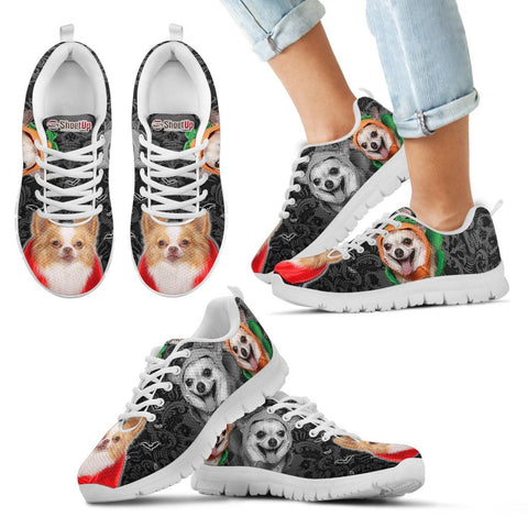 Chihuahua Halloween Print Running Shoes For Kids