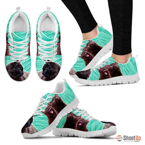 York Chocolate Cat (Black/White) Cat Running Shoes For Women