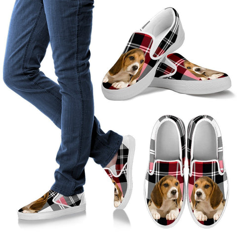 Beagle Print Slip Ons For Women