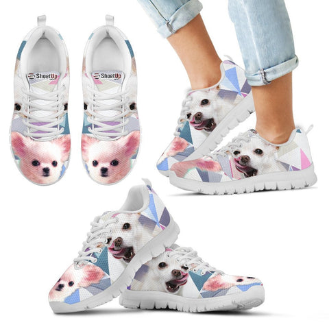 Cute Chihuahua Print Running Shoes For Kids
