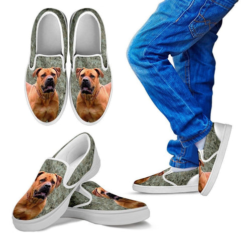 South African Boerboel Dog Print Slip Ons For KidsExpress Shipping