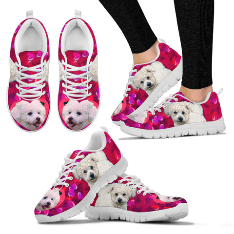 Valentine's Day SpecialBichon Frise Dog Print Running Shoes For Women