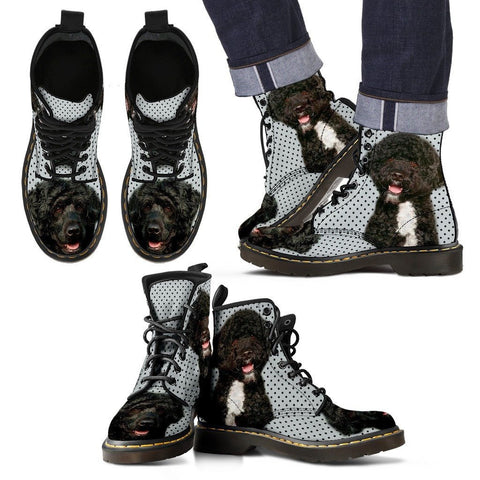 Portuguese Water Dog Print Boots For MenExpress Shipping