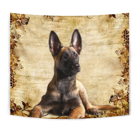 Cute Malinois Dog Print Tapestry