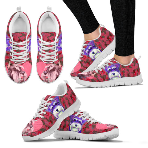 Valentine's Day SpecialMiniature Schnauzer Dog Print Running Shoes For Women
