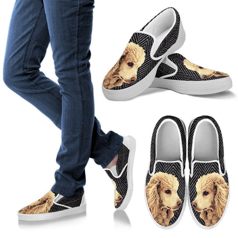 Poodle Dog Print Slip Ons For WomenExpress Shipping