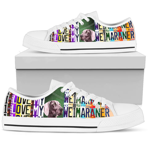 Women's Low Top Canvas Shoes For Weimaraner Lover