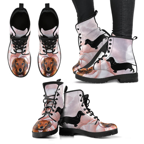 Valentine's Day Special Dachshund Print Boots For Women