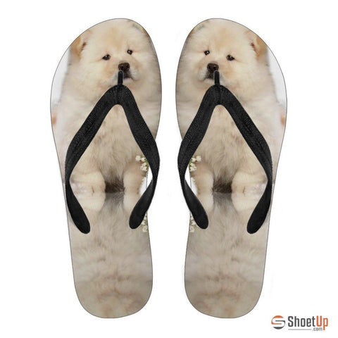 Chow Chow Puppy Flip Flops For Men